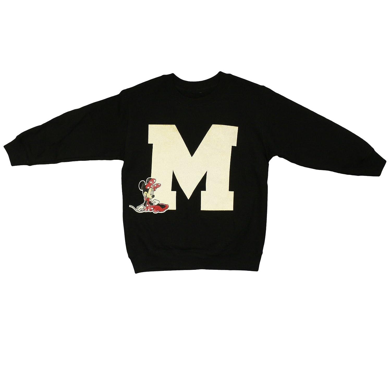 Disneyx Disney Minnie Mouse Girls Black Sweatshirt Age 5-14 Years Jumper Top