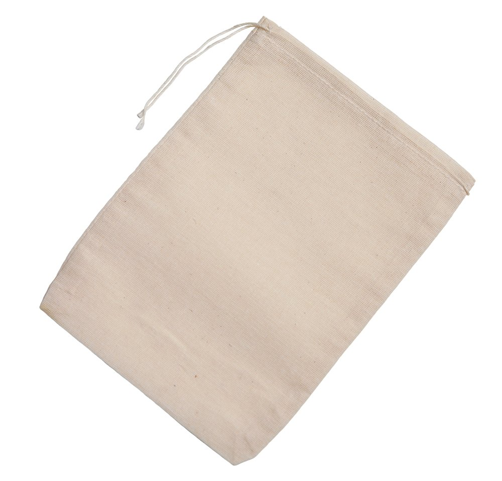 Cotton Muslin Bags 25 Count (5 x 7 inches) Natural Drawstring, made with 100% cotton in the USA by Celestial Gifts