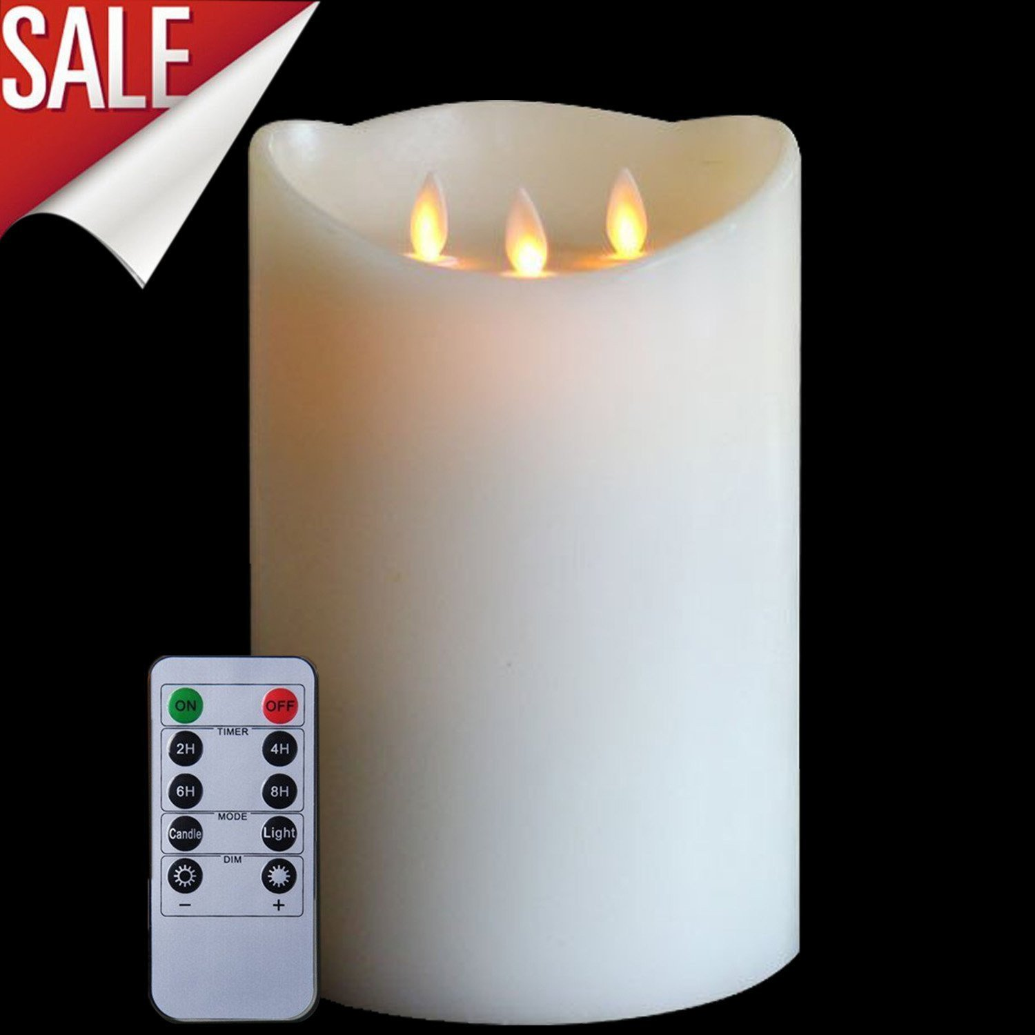 Flameless Candles,LED Votive Candles Unscented Battery Powered Candles, Pillar Candles With Remote Control Timer Perfect for Weddings, Christmas, Funerals, Souvenirs, Dia. 6''x10'' Height