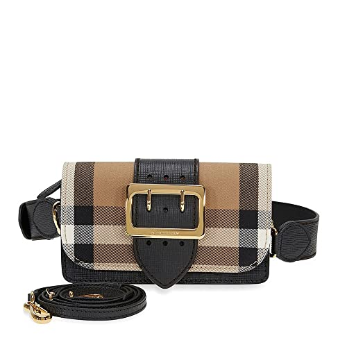 cf3784caeeb Burberry Small Buckle Bag in House Check and Leather - Black: Amazon.ca:  Shoes & Handbags