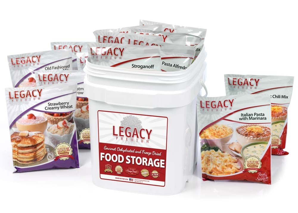 Survival Food Storage - 60 Large Servings - Freeze Dried Meal Assortment - 18 Lbs - Emergency Preparedness Supply Kit - Dehydrated Breakfast, Lunch & Dinner - Camping, Hiking Too
