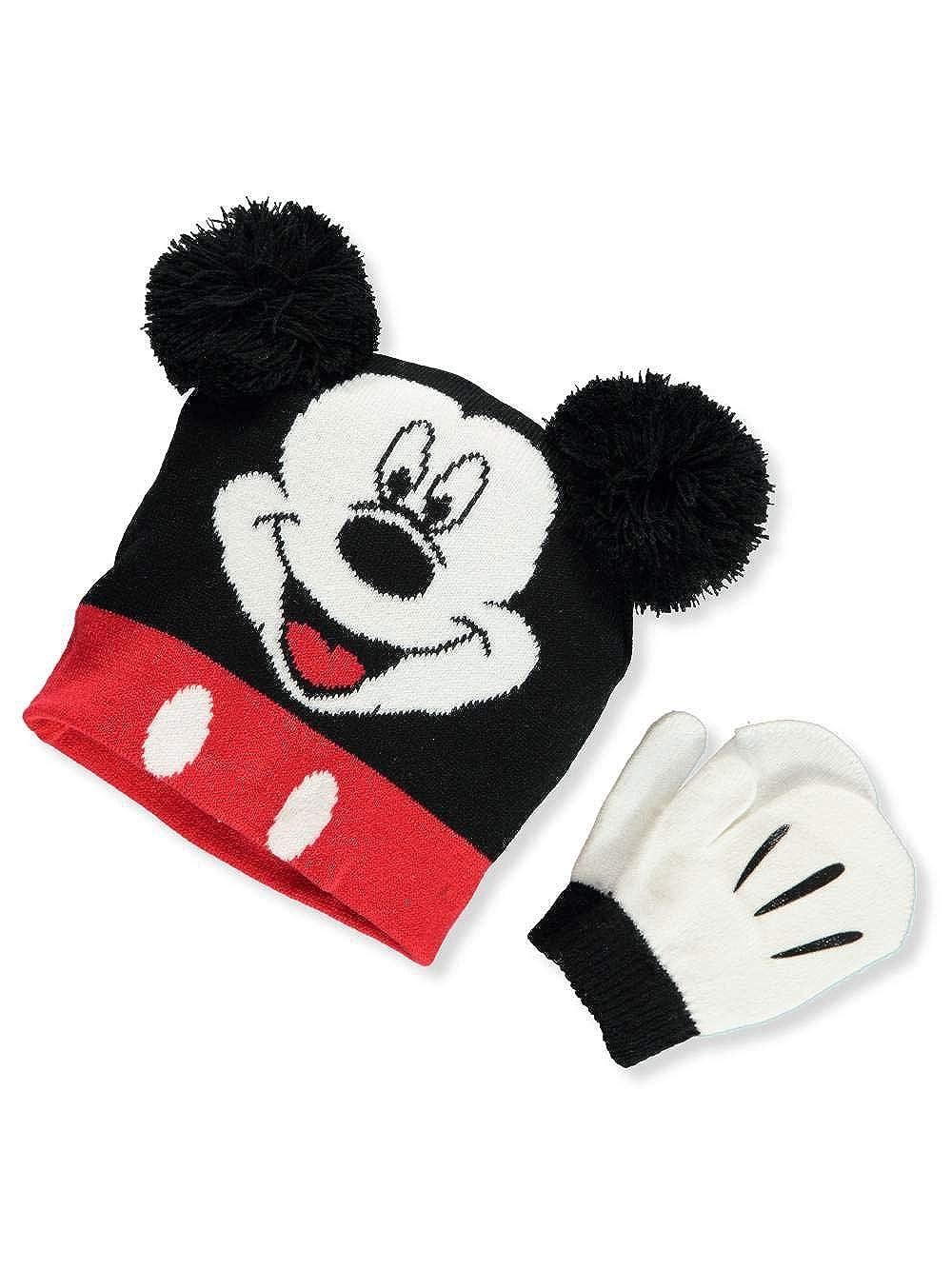 Disney Mickey Mouse Boys' Beanie & Mittens Set one size