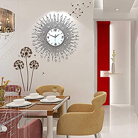 Amazon.com: XHWZB - Reloj de pared para salón, diseño ...