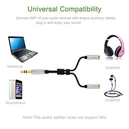 Cable Audio Estéreo Demiawaking y ALLOYSEED Cable Audio 33cm 2 en ...