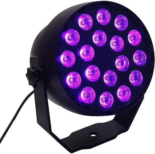 GENGJ Iluminación UV / 18X3w / Luz UV/Luz Negra/Proyector ...