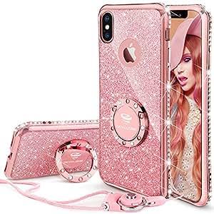 Amazon.com: iPhone X Case , Cute Glitter iPhone X Case for