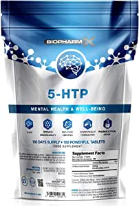 Maximum Strength 200mg 5 HTP Tablets/Stress & Anxiety Relief / (180 Tablets / 6 Month Supply) 100% Pure Certified Vegan Griffonia Seed Extract, 100% Natural – Proven to Work!