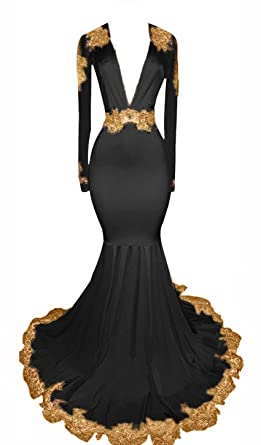3ba373a9ce23 UGLY Women's Sexy Mermaid Evening Dresses Mini Open Back Mermaid Prom  Dresses with Gold Appliques UG012