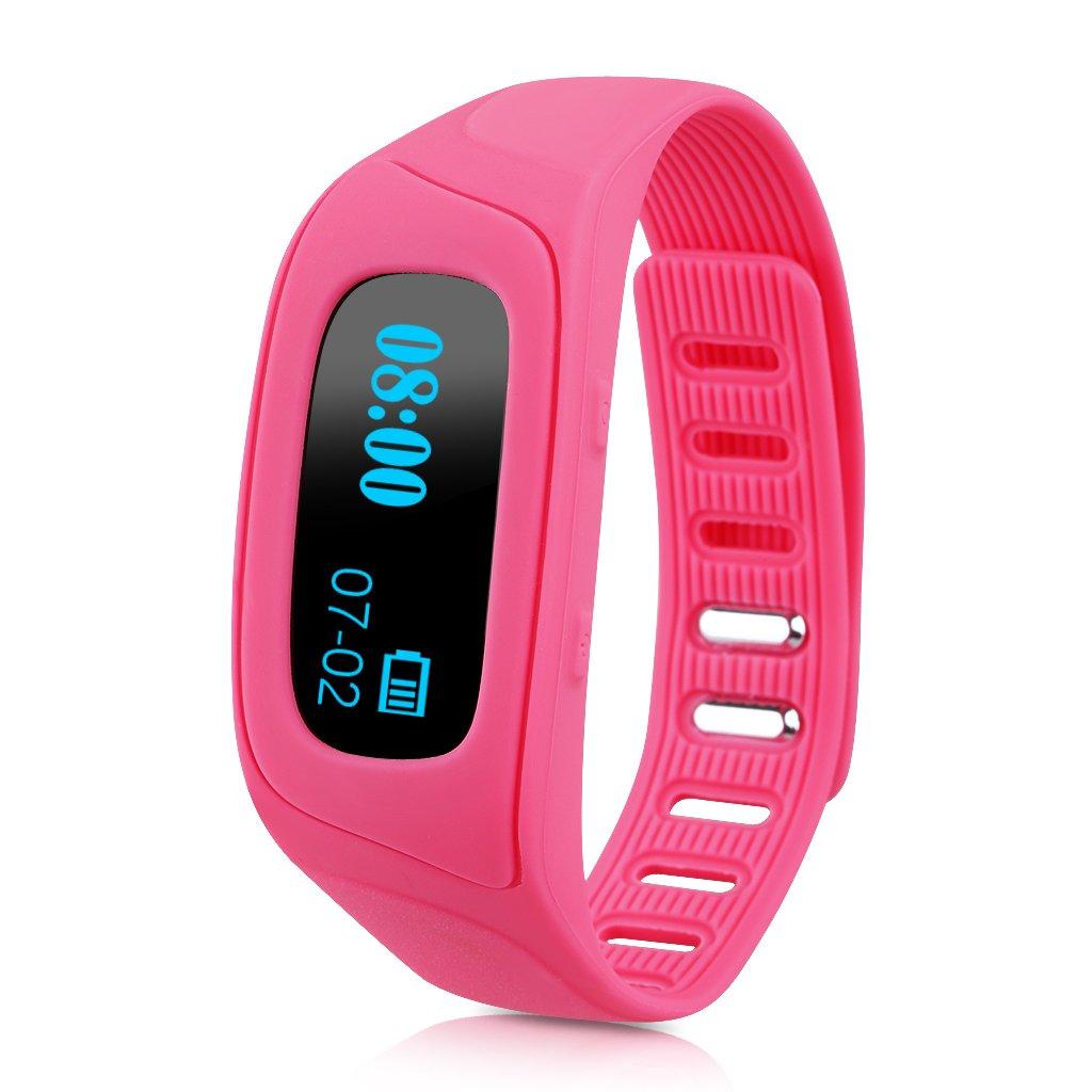 Diggro SW18-P Oled Smartwatch Bluetooth (Ajustable, Snyc Mensaje Llamadas, Podómetro, Monitor de Sueño, Control remoto de Cámara, Compatible con ...