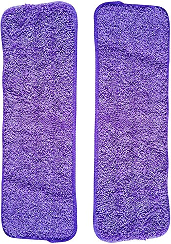 Vorfreude Spray Mop Microfibre Pads 2 Pack of Lifetime Replacement Guaranteed 1000x Machine Washable Reusable 25cm x 40cm Wipes for Cleaning Dry or Wet Floors. Easy Wash and Reuse (2 Total)
