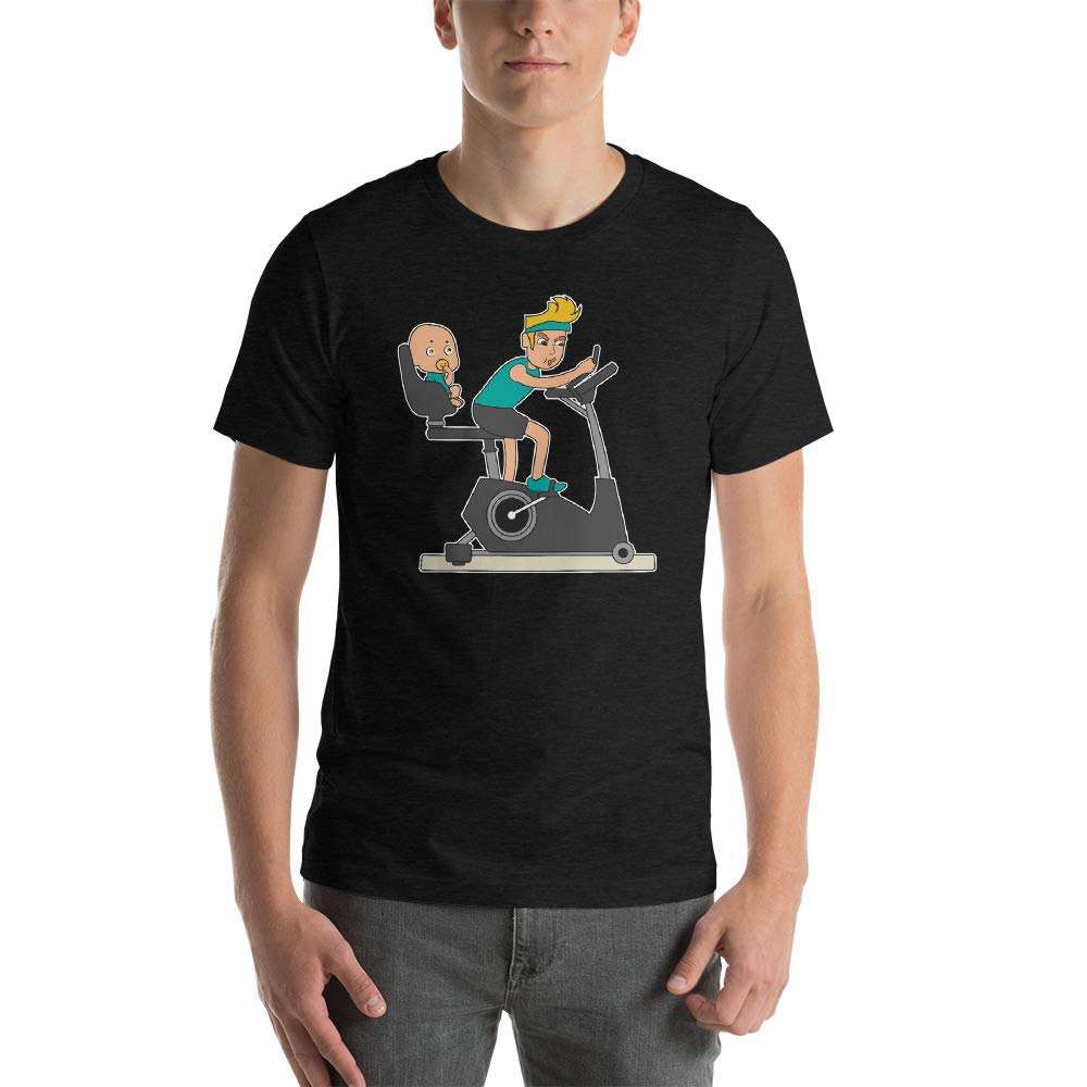 Alpha5StarDeals Dad and Baby Training Short-Sleeve Unisex T-Shirt