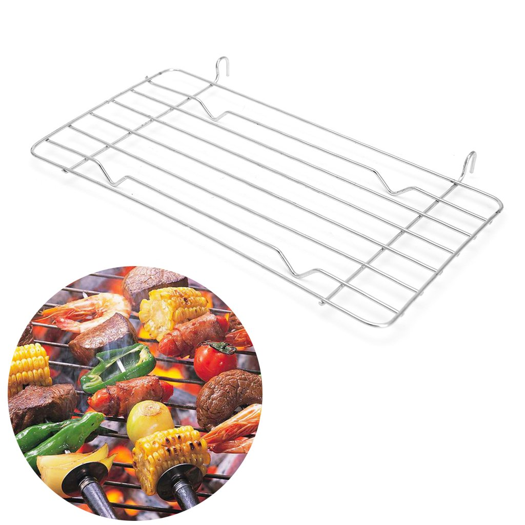 Guoyy Charcoal Barbecue Grill Grid Replace Steaming BBQ Metal Wire Mesh Rack 26×13cm