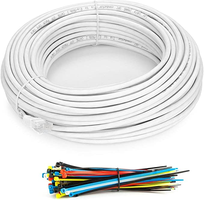 150ft Aurum CablesTM Blue Cat5e Network Patch Cable 24AWG