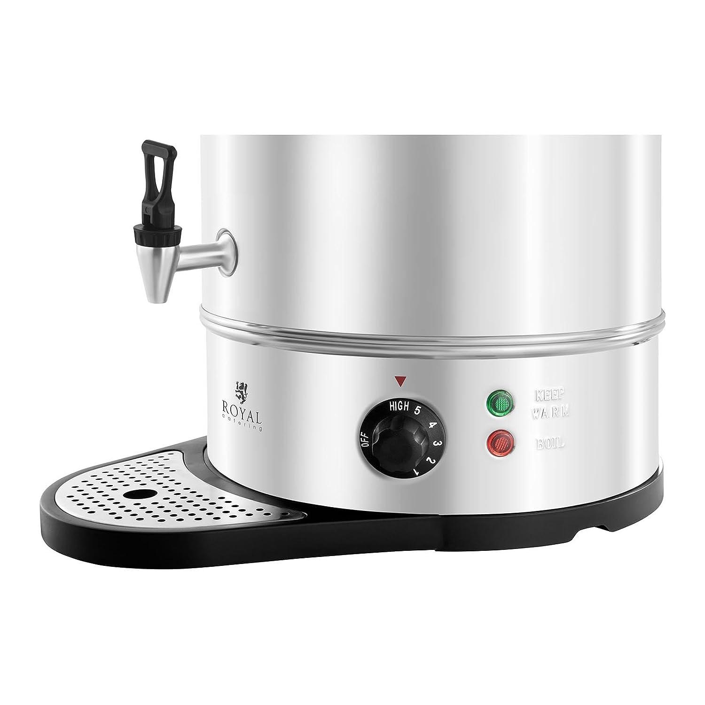 Hervidor de agua RCWK 16A 2200 W Temperatura: 55-100 /°C Royal Catering 16 litros Env/ío Gratuito