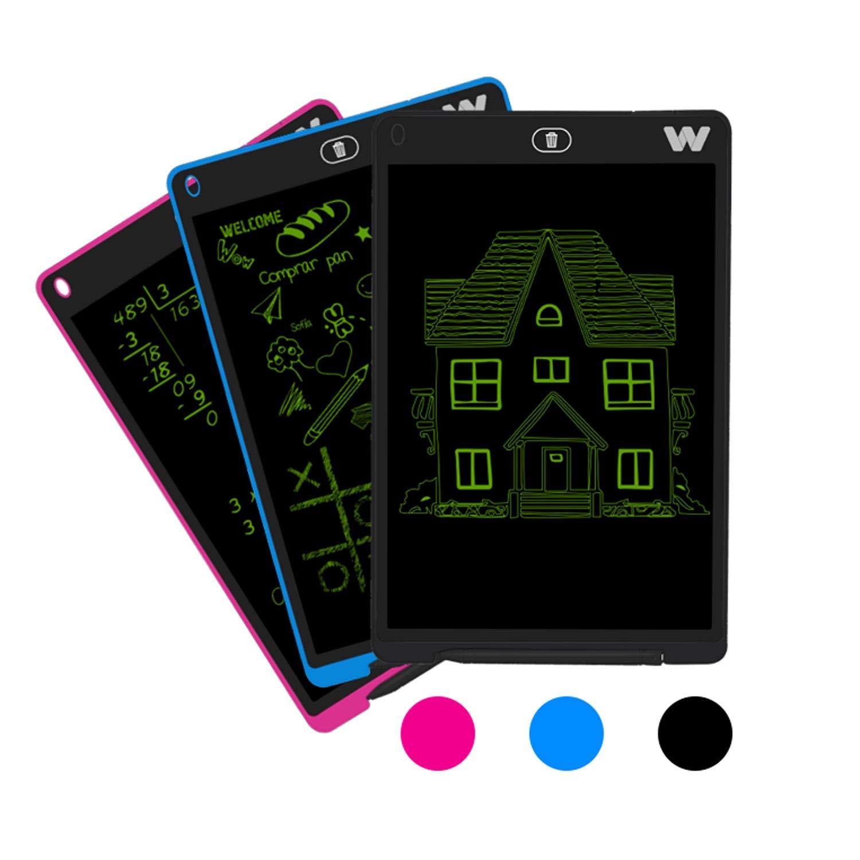 con Regla y Mouse Pad Pizarra electr/ónica Sensor de presi/ón Color Azul 10-200g Pila CR2025 Woxter Smart Pad 120 Pantalla de Cristal l/íquido borrable 12 Tonalidad Verde