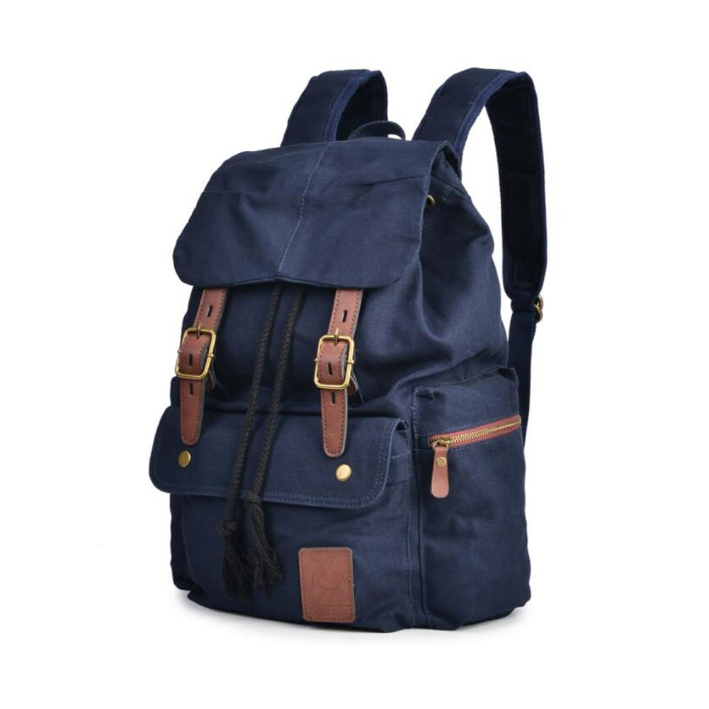 Mens Backpack Canvas Bookbag backpacks Casual Large Space Cotton bag Outdoor Sports backpack Climbing Hiking Backpack Shoulder Strap Bag Fashion Backpack (Color : 2) by YaXuan (Image #2)