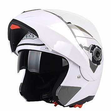 ZPXLGW Casco De Motocicleta Hombre Casco Con Bluetooth Medio Cubierto Verano Cuatro Estaciones Expuesto Casco Locomotora