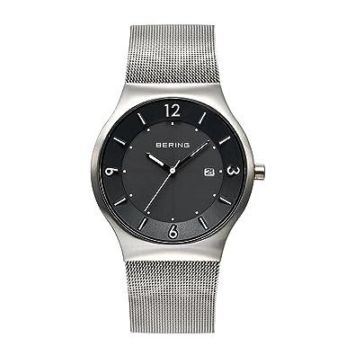 BERING Reloj Analógico para Hombre de Energía Solar con Correa en Acero Inoxidable 14440-002: Amazon.es: Relojes