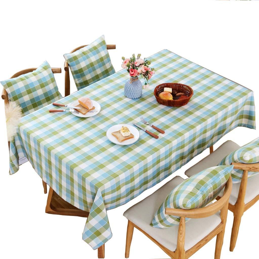 YTJ-JP ヨーロッパの牧歌的なスタイルのテーブルクロス、長方形の格子テーブルカバー、綿と麻の布地、防水のやけど防止オイル、ダイニングテーブルコーヒーテーブルドレッシングテーブル長方形のテーブル (Size : 135 × 180cm) 135 × 180cm  B07SRZL5QX