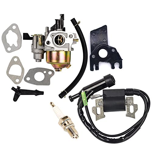 OuyFilters Repalce Carburador Bobina de Encendido con Bujía para Honda Gx160 Gx200 5hp 6.5hp Motor