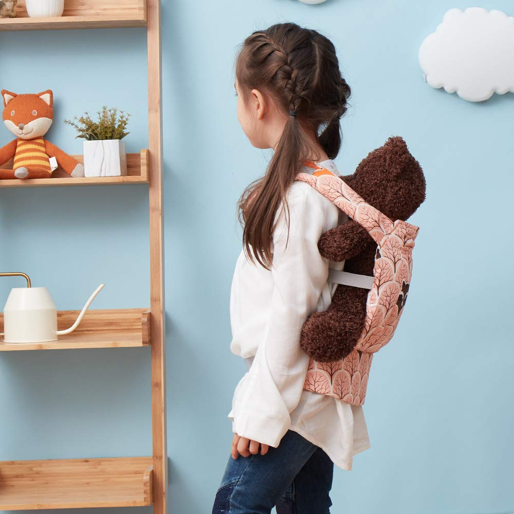 orange Bebamour Baby Doll Carrier for Kids Toddler Toy Carriers Cotton Straps Children/'s Front Back Carrier Adorable Animal Pattern