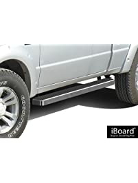 """APS IBFY5960 Silver 4"""" Running Board Side Step"""
