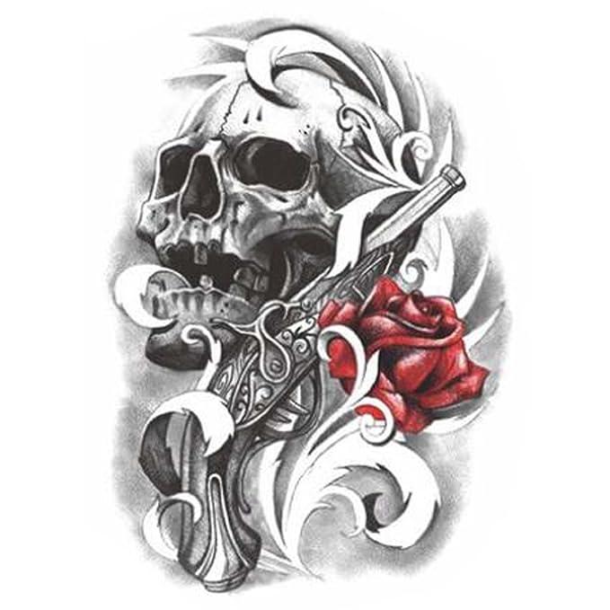 Negro Fake cuerpo tatuajes de moda Tatuajes Pegatinas individuales ...