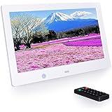 10.1インチ デジタルフォトフレーム 1024*600解像度 日本語説明書 多機能 自動再生 リモコン付き 人感センサー付き 良いギフト