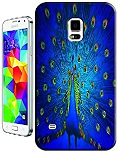 Peafowl Spead Tail Feathers Blue Gold beautiful cell phone case for Samsung Galaxy N3
