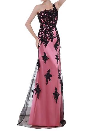 Gorgeous Bridal One-Shoulder A-line Applique Long Evening Prom Dress for Women-