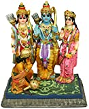 "Krishna Culture Sita Rama Laksmana Hanuman Darbar Statue 7.5"" Hindu Idol"