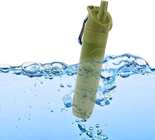 S SMAUTOP Filtro de Agua Personal Sistema de Filtraci/ón de Agua Mini Purificador de Agua Port/átil para Excursionismo Campamento Acampada Supervivencia Filtro Agua Supervivencia Accesorios
