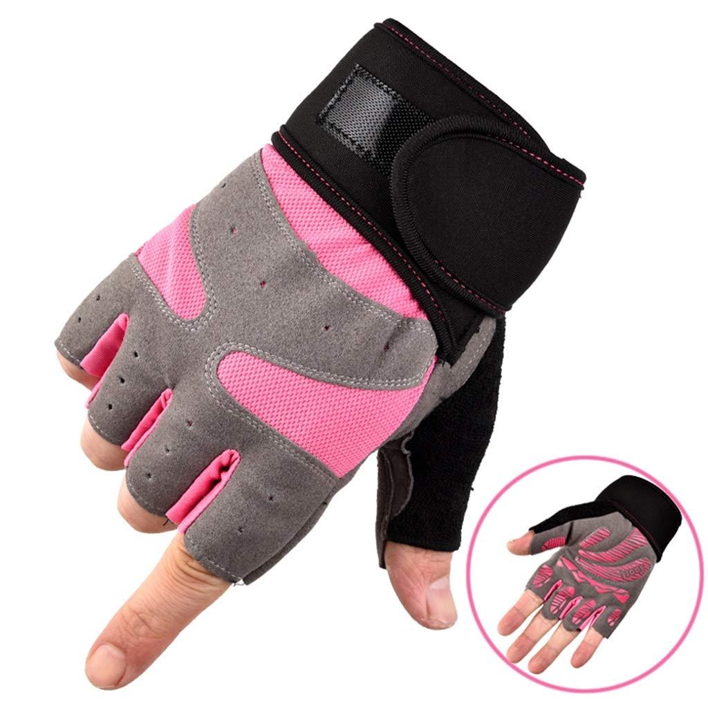 Ultradünne rutschfeste Outdoor-Halbfingerhandschuhe Color : Blue, Size : XL Fingerlose Stoßfeste Fitnesshandschuhe JCCOZ Atmungsaktive