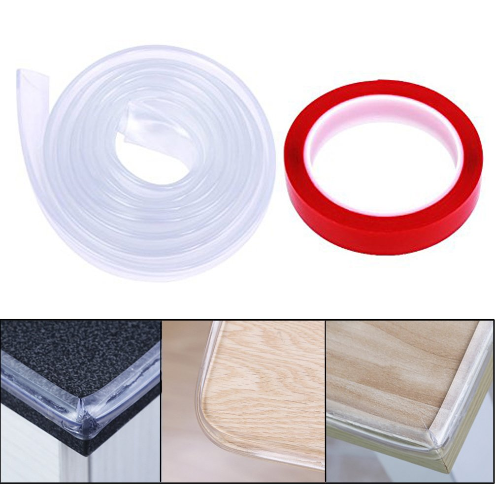 6.5 Feet Edge & Corner Guards with Double Sided Adhesive Child Safety Furniture Bumper Table Corner Protectors Edge Corner Cushion