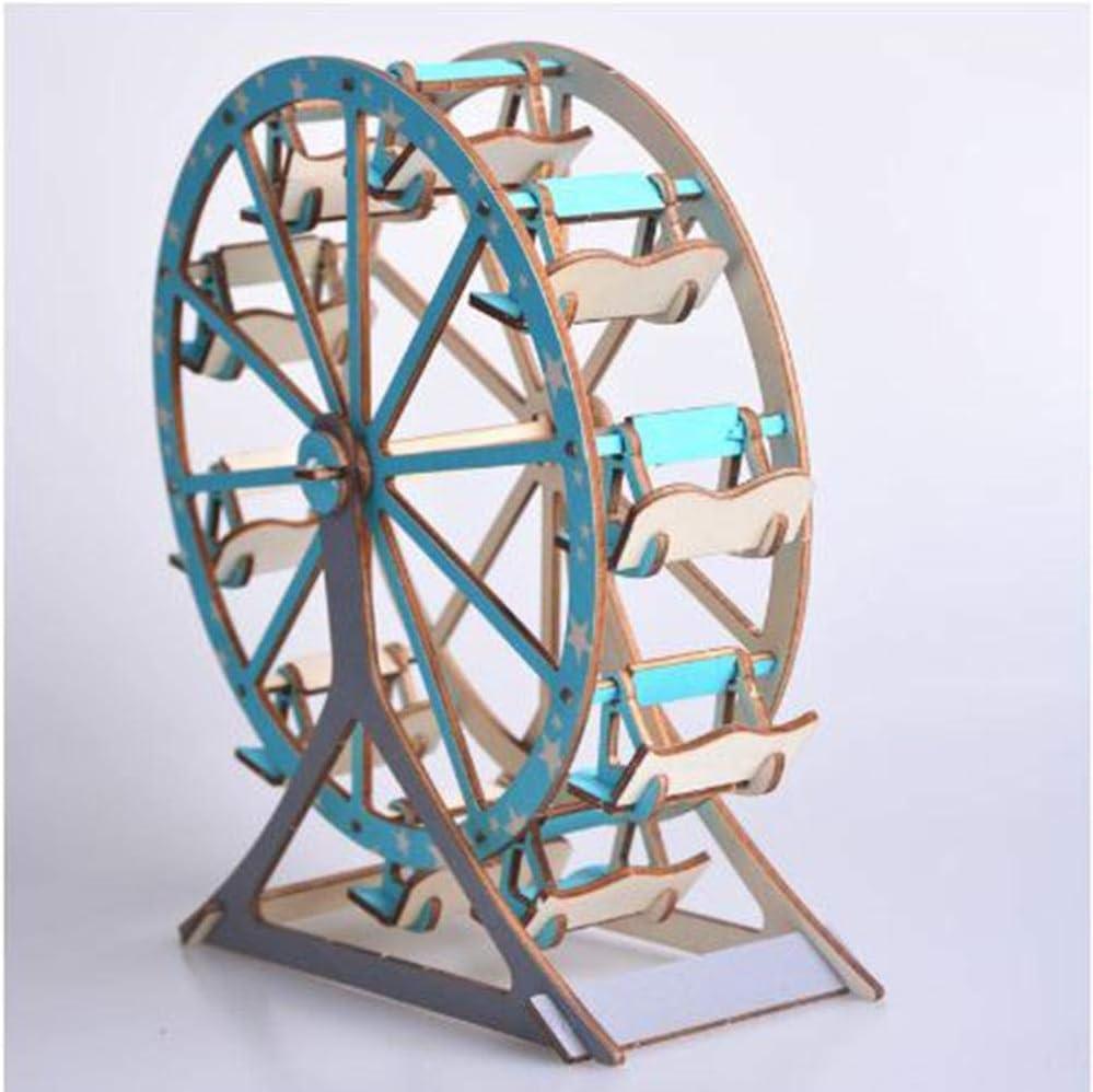 klkll Modelo de Madera Corte láser 3D Rompecabezas de Madera ...