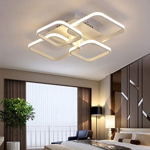Lámpara LED techo para salón, regulable con mando a distancia ...