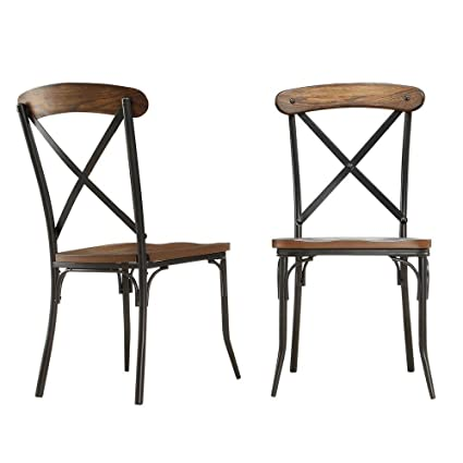 Outstanding Amazon Com Cabela Bistro Wood And Metal Dining Chair In Ocoug Best Dining Table And Chair Ideas Images Ocougorg