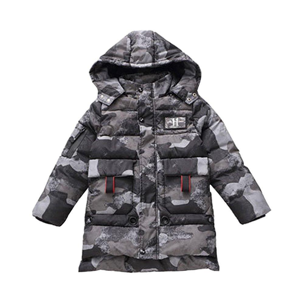 OCHENTA Big Boys Camo Padded Quilted Winter Coat