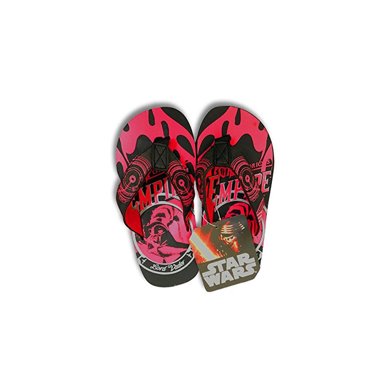 Disney Store Star Wars The Force Awakens Flip Flops Black-red 11-12