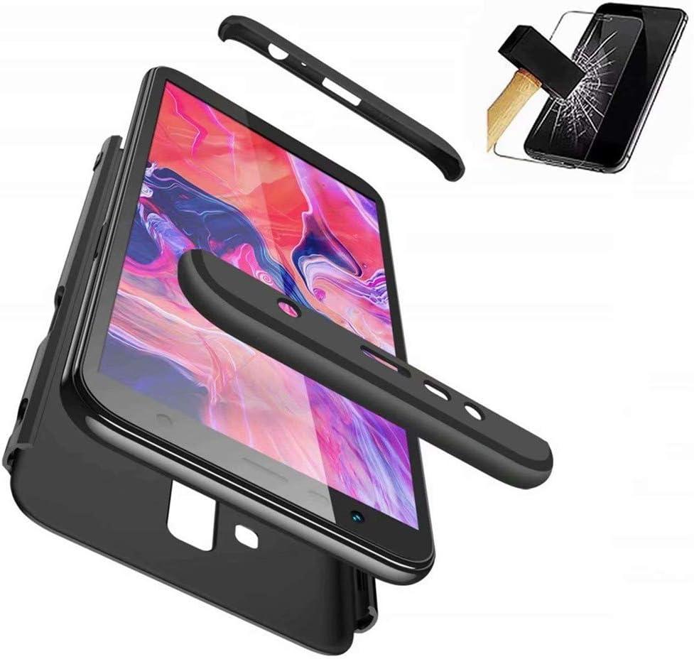BIZHIKE Funda 360 Grados Integral para Huawei Honor 7X Ambas Caras+Cristal Templado 3 in 1 Slim Fit Dactilares Protectora Skin Caso Cover-Negro: Amazon.es: Electrónica