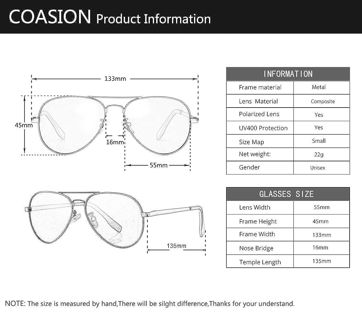 Amazon.com: Gafas de sol polarizadas de aviador para rostro ...