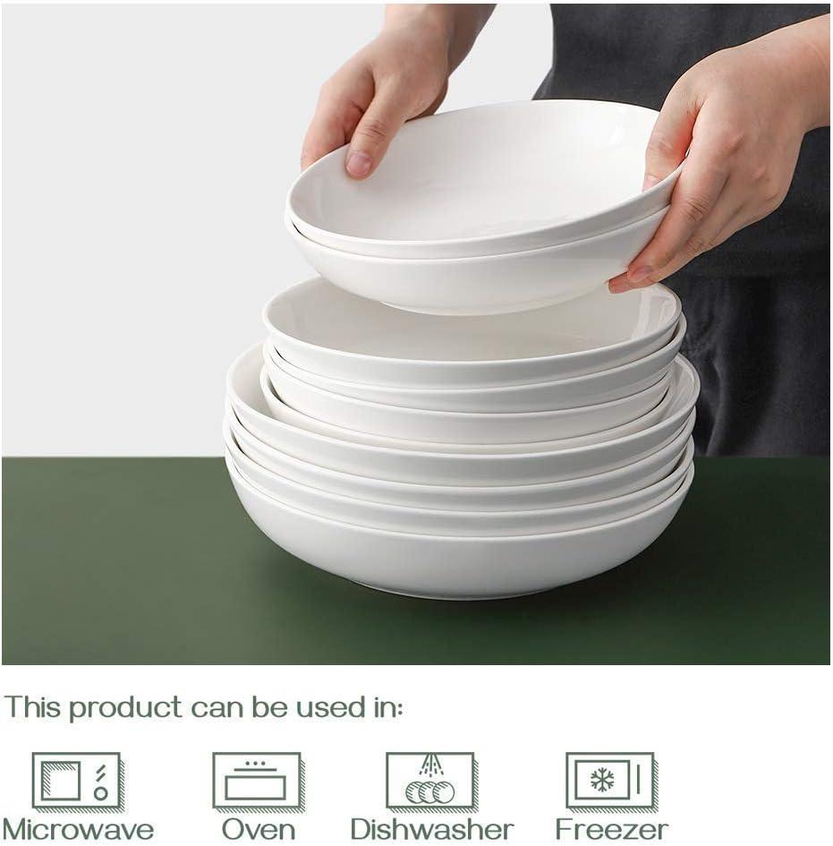 """DOWAN 9.75/"""" Wide Pasta Bowls Ceramic Salad Bowls 50 Ounces Large Serving Bowl..."""