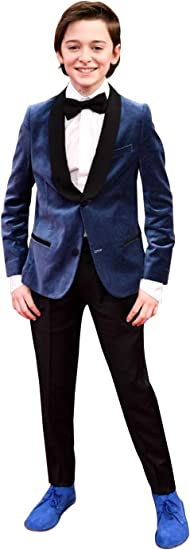 P/&G Boys Two Bottons Two-Piece Suit Velvet Tuxedos Party Formal Wear