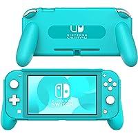 MoKo Hand Grip Case Compatible with Nintendo Switch Lite, Ergonomic Comfort Handle Case Shockproof Protective Stand…