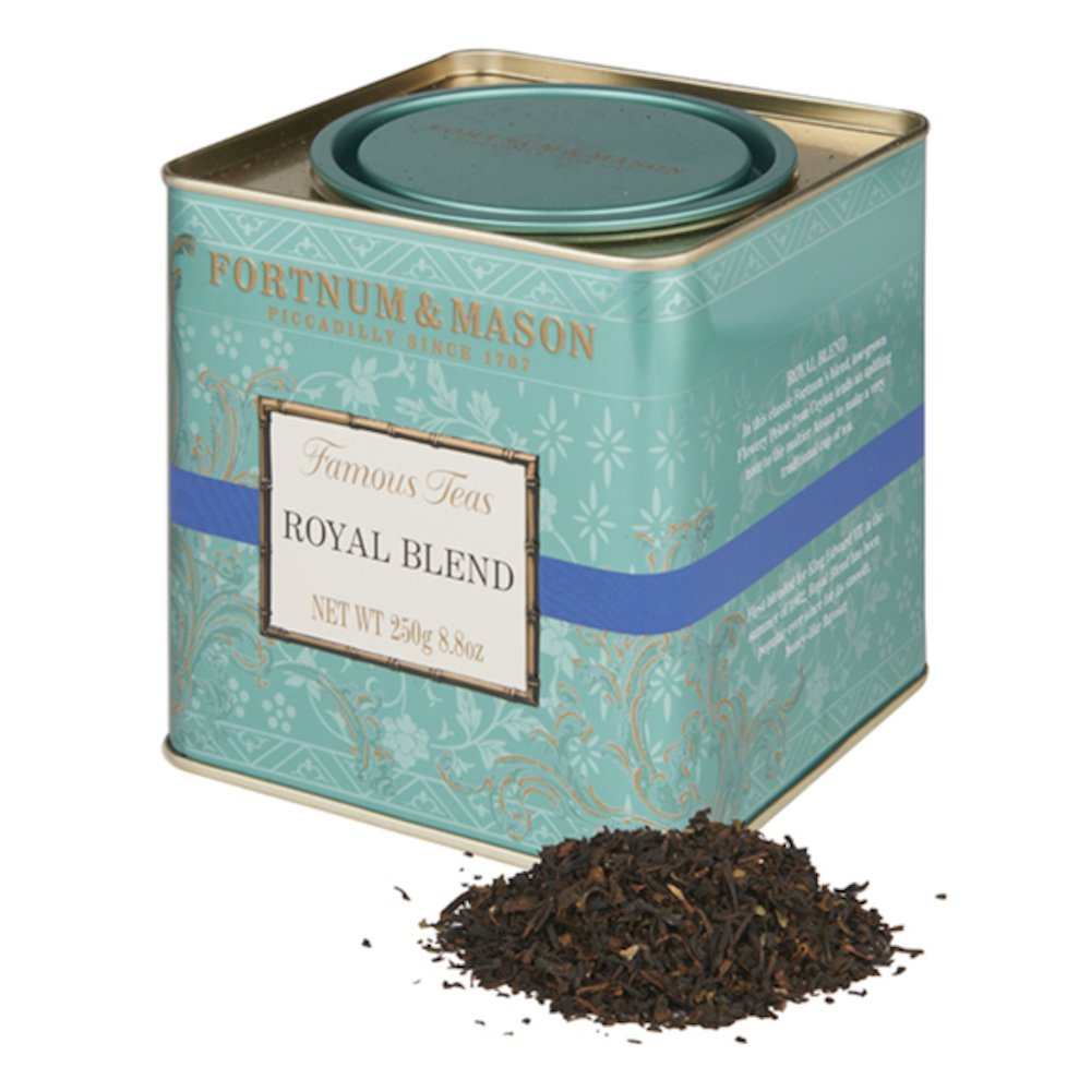 Fortnum & Mason British Tea, Royal Blend, 250g Loose English Tea in a Gift Tin Caddy by Fortnum & Mason