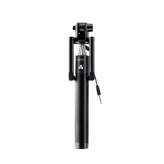 150 opinioni per AUKEY Bastone Selfie, Selfie stick monopiede fili con spina da 3,5 mm di asta