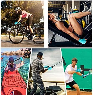 HNOOM Guantes Ciclismo, Guantes MTB para Hombres Mujeres, Antideslizante Guantes Bicicleta Montaña Gel Medio Dedo, Transpirable Guantes Bicicleta Guantes Bici Verano para Todos Los Deportes (Azul, M): Amazon.es: Deportes y aire libre