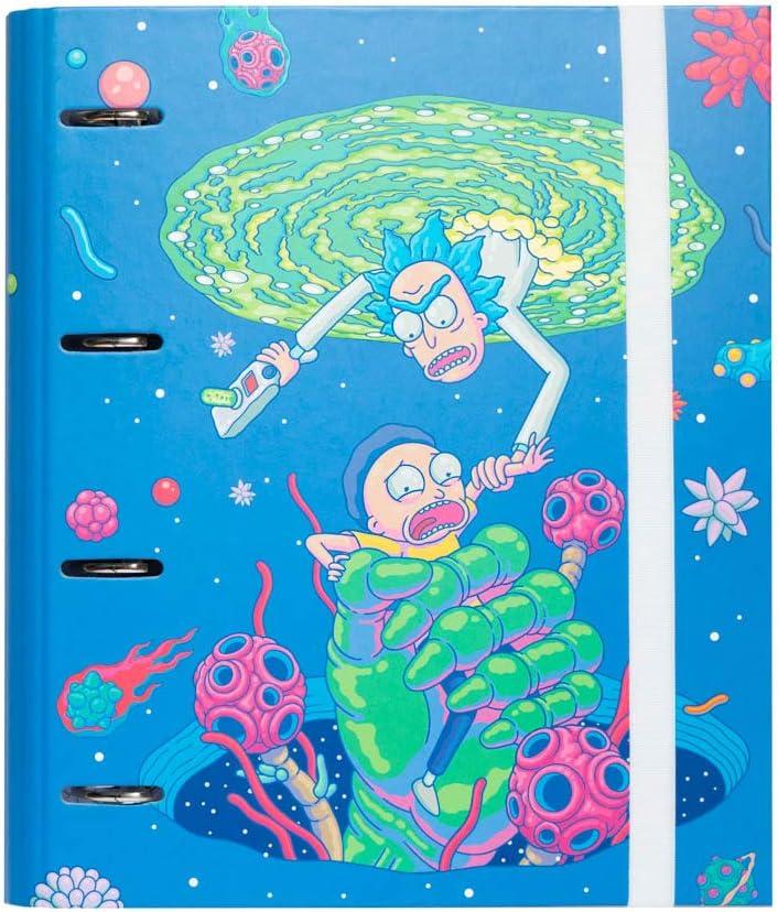 Grupo Erik - Carpeta 4 anillas troquelada Premium Rick Morty Virus Attack (32x26 cm) CAT0073