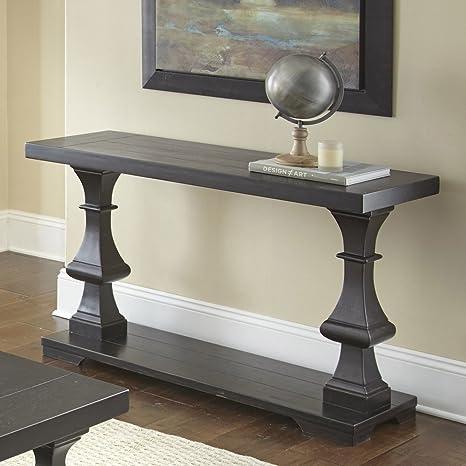Amazon.com: Steve plata Dory mesa de sofá, Madera Noble ...