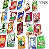 BleuMoo 20pcs Christmas Cards Hanging Decorations For Christmas Trees Hot Decoration New